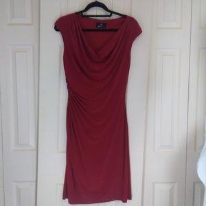 Ronni Nicole Red False Wrap Dress